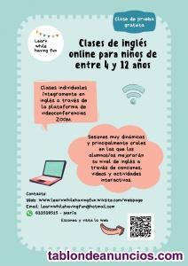 Clases de inglés online para niños de entre 4 y 12 años