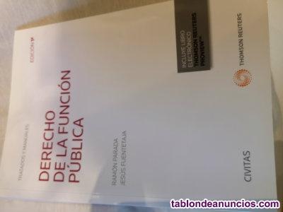 Libro DERECHO DE LA FUNCIÓN PÚBLICA UNED 1ª Edición