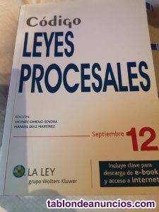Código Leyes Procesales Edición septiembre 2012