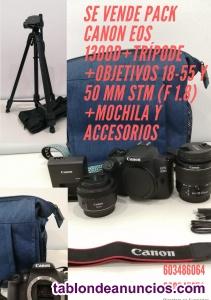 Camara canon EOS 1300D + tripode