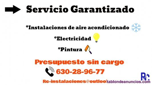 Instalación aire acondicionado, y electricista