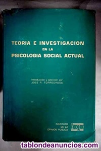 Teoría e investigación en la psicología social actual