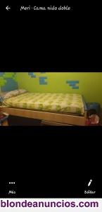 Vendo conuunto 2 camas nido con cajones