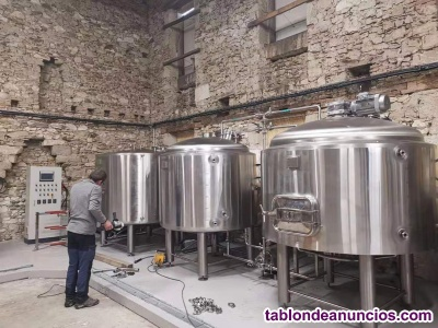 Fábrica de cerveza de 1000 litros completa, nueva