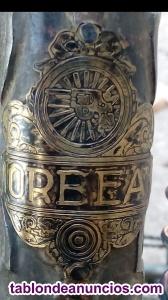 1930 Chapa Orbea de bici de varillas antigua primera serie  rueda con una pistol