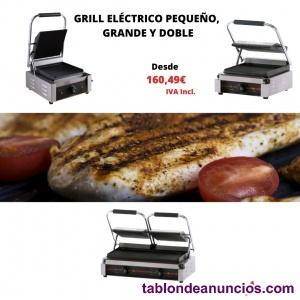 Grill eléctrico profesional pequeño, grande y doble