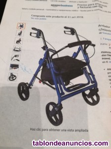 Andador rollador 4 ruedas con asiento