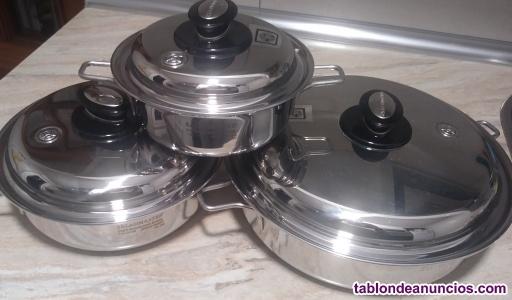 Saladmaster batería de cocina de titanio SIN ESTRENAR