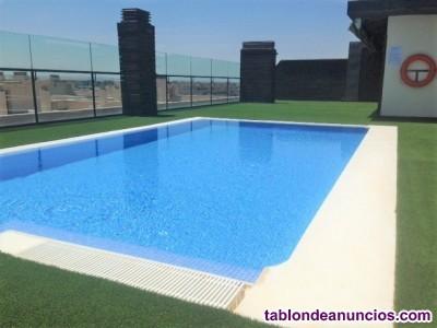 ¡¡calidades de lujo, amplisima terraza y piscina en solarium!!