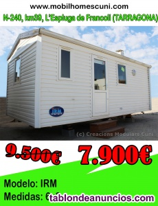 Mobil Home IRM 6×3 r930015 2 habitaciones