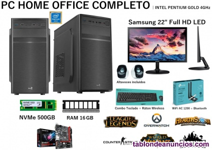 PC COMPLETO HOME OFFICE | INTEL PENTIUM GOLD G6400 a 4.0GHz
