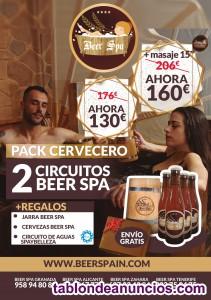 Regale  pack  beer spa (bañense en cerveza)