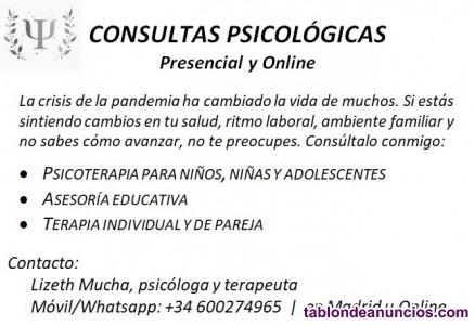 Terapia y Asesorías educativas