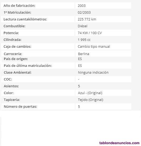 OPEL ASTRA 2.0 Dti 16v Comfort, 100cv, 4p del 2003