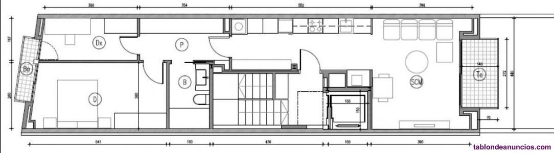 Atico, 80 m2, 2 dormitorios, 1 baños, Nuevo, plant