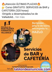 Curso gratuito de bar y cafeteria