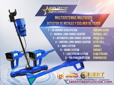 Gold Star 3D  Scanner Juego completo de herramientas de detección de metales