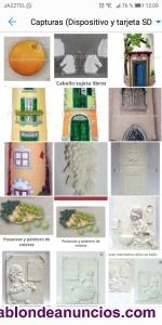 Vendo tejas, placas y figuritas