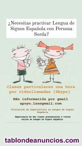 Aprende Lengua de Signos con Persona sorda