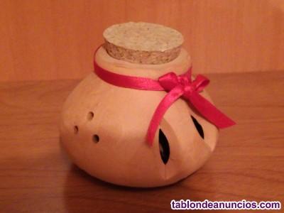 Recipiente de cerámica para vela