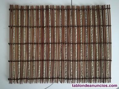 Manteles brasileños de palitos de madera