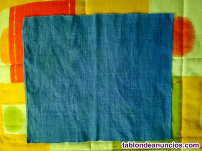 Manteles individuales azules de tela