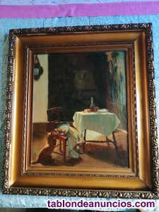 Cuadro pintor Luis Masriera