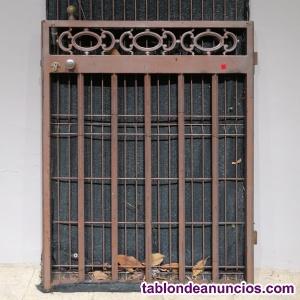 Puerta de jardín metálica 97x121cm