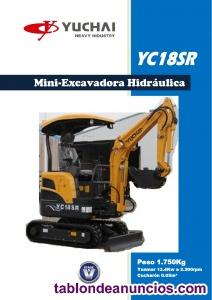 Mini-excavadora yuchai yc18sr 1800kg