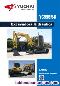 Mini-excavadora yuchai yc55sr 5750kg