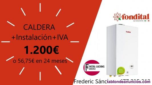 Caldera nueva con Instalación e IVA 1200