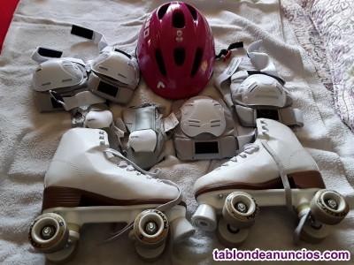 Equipo completo de patinaje