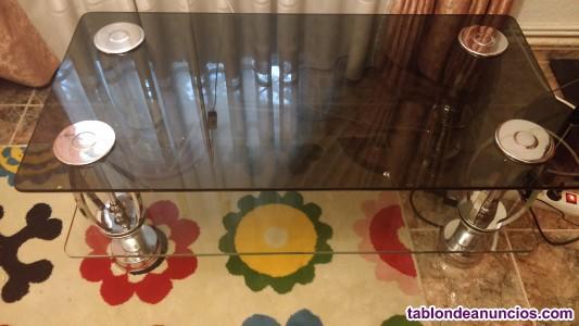 Mesa baja de cristal de comedor