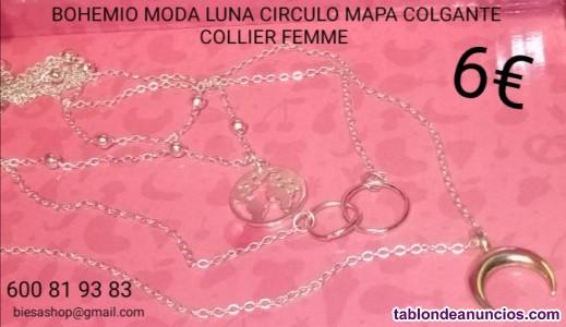 Elegante collar collier bijoux femme