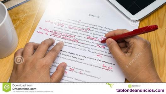 Corrijo TFG, tesis, tesinas