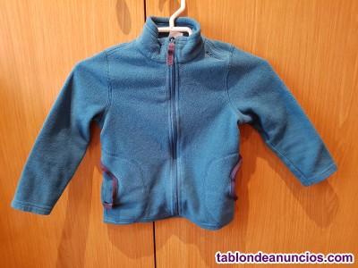 Chaqueta polar quechua azul talla 4 años