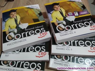 SE VENDE LIBROS DE OPOSICION DE CORREOS