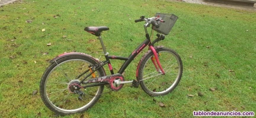 """Bicicleta infantil de paseo marca BTWIN (24"""")"""