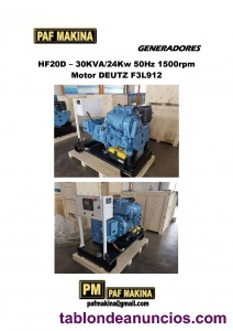 Grupo electrogeno hf20d de 30kva motor deutz