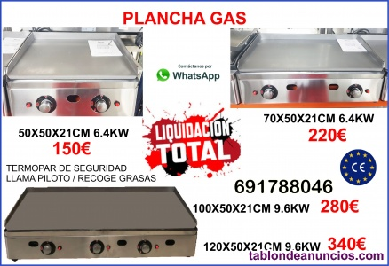 Plancha de gas