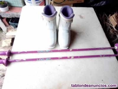 Botas ski + bastones infantiles