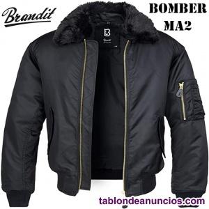 Cazadora aviador - Bomber MA1 con pelo - Marca Brandit
