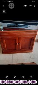 Vendo mesa centro y mesa tv de madera  maciza
