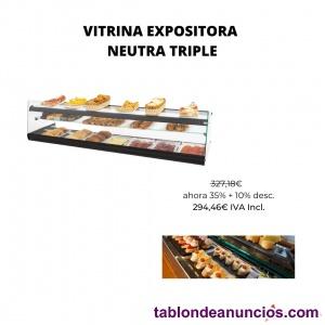 Vitrina expositora 1456x390x376 mm neutra triple