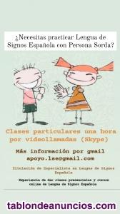 ¿Necesitas practicar Lengua de Signos Española con Persona Sorda?