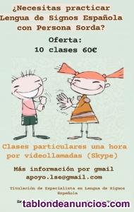 Aprende Lengua de Signos Española con Persona Sorda