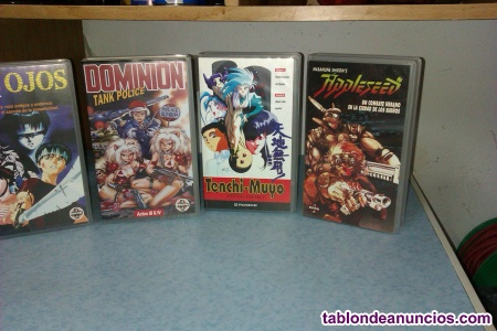 52 películas  anime /manga VHS nuevas