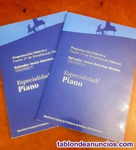 Programación didáctica piano conservatorio valorada con 1o