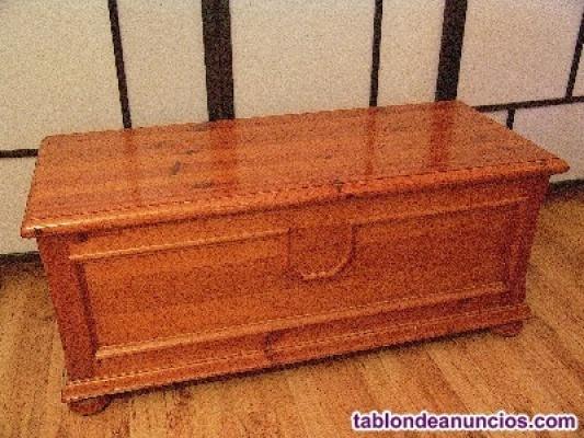 Arcón / baúl madera de pino macizo