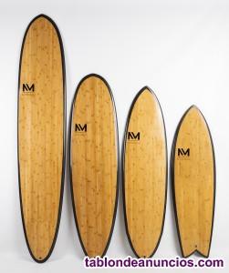 Tabla surf / longboard bamboo y carbono - varias medidas